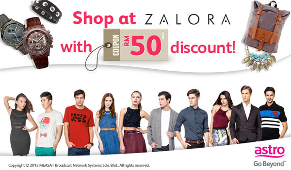 Zalora coupon discount Astro