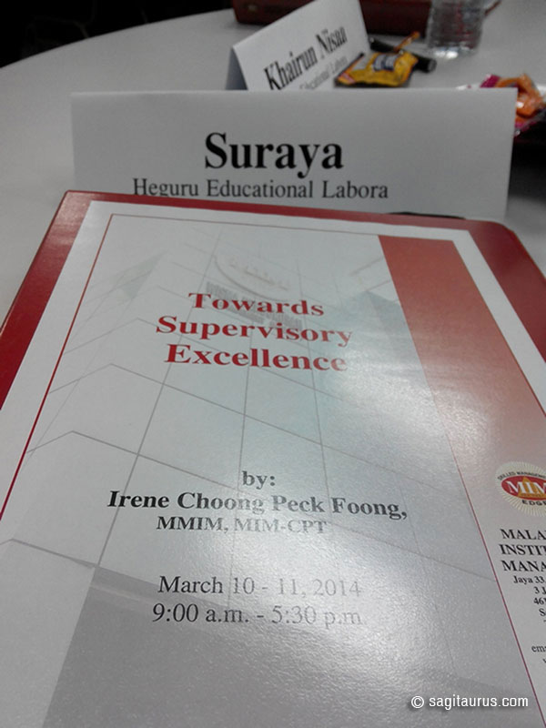 Kursus dalam topik Towards Supervisory Excellence